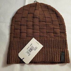 NWT Ben Sherman Brown Ribbed Knit Beanie